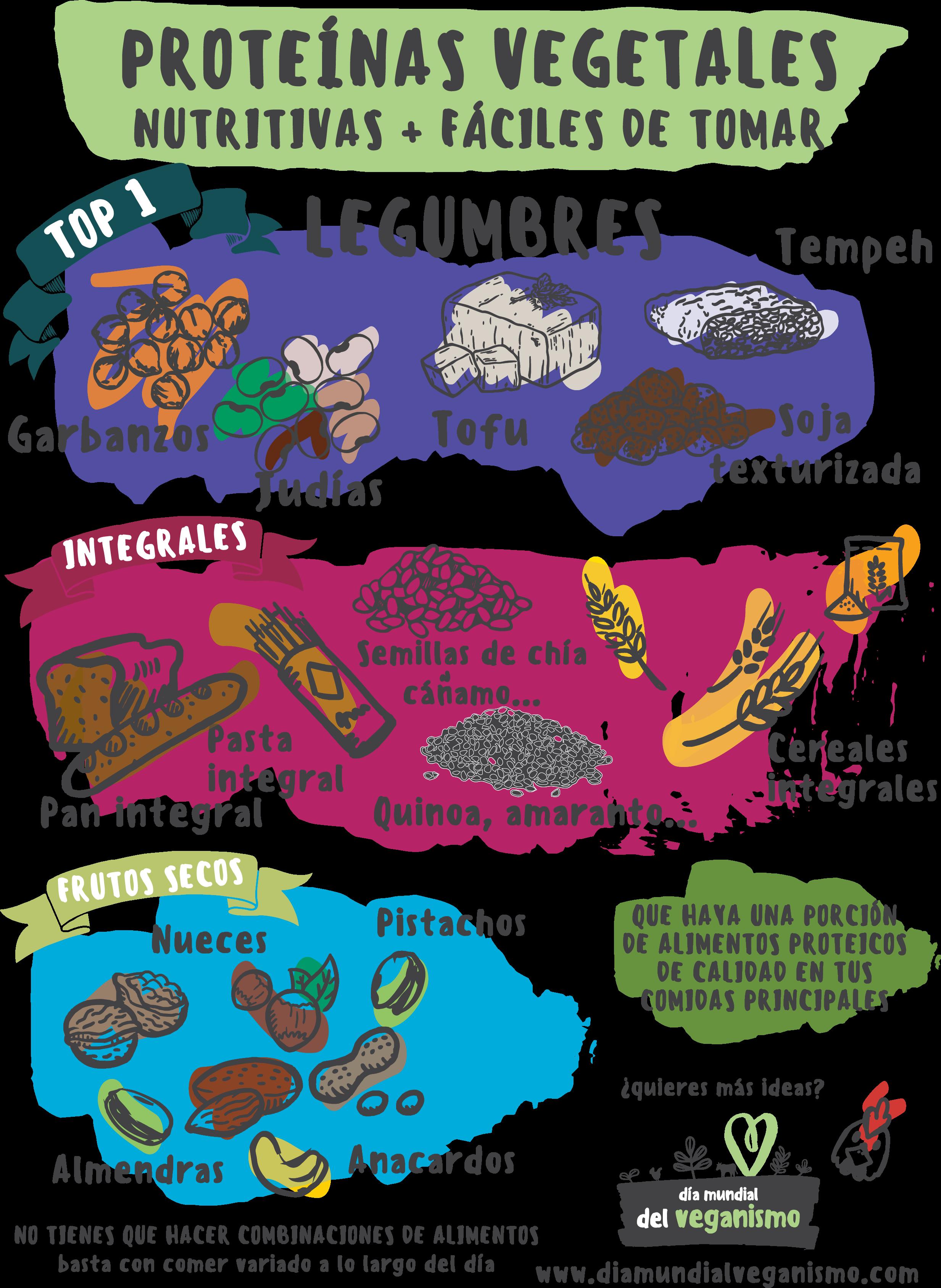 Proteínas vegetales: infografía