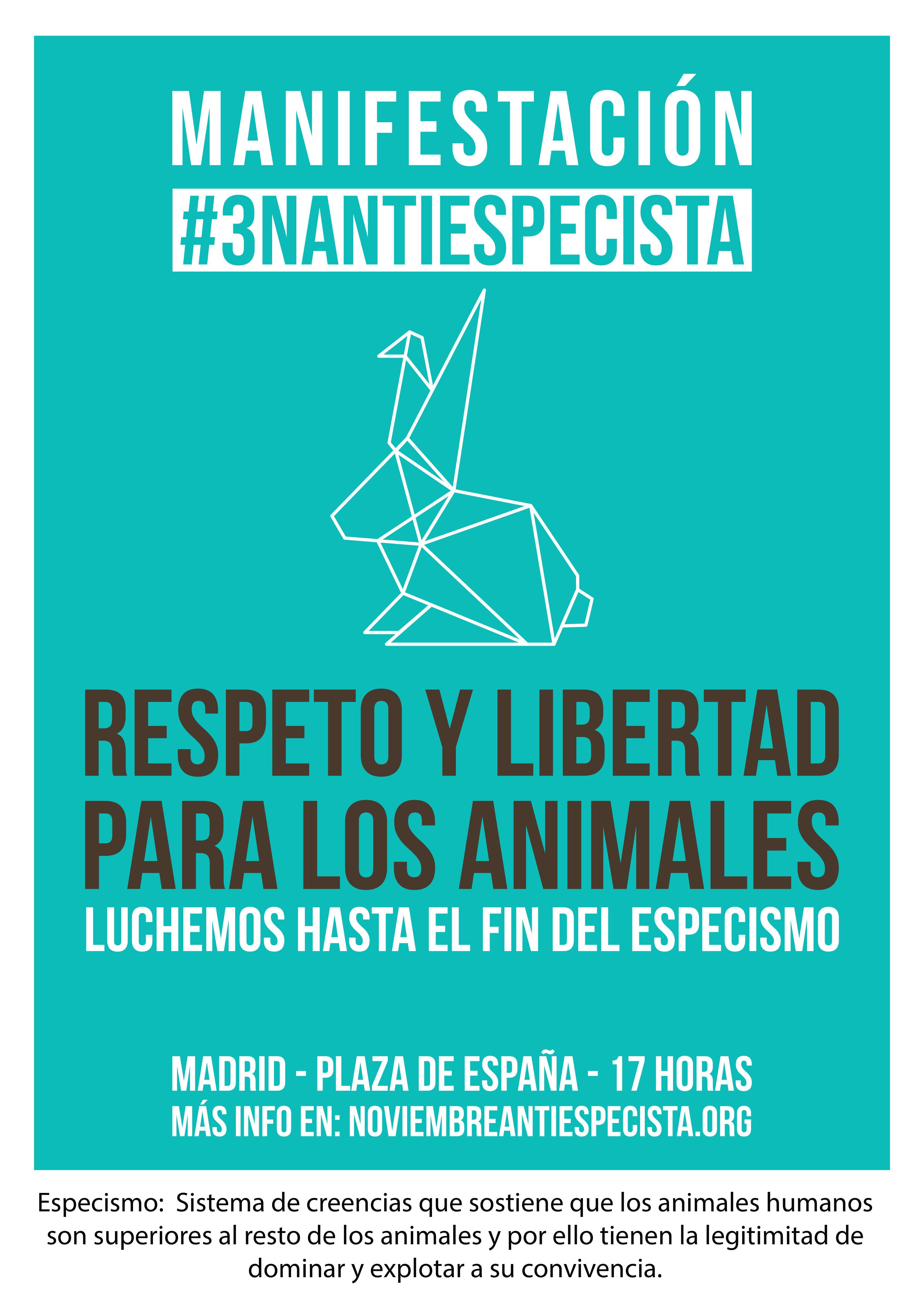 Manifestación 3N Antiespecista