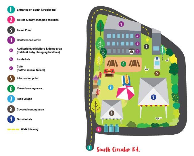Mapa Dublin Veg Fest