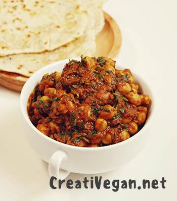 Chana masala - garbanzos con salsa de tomate y especias - Virginia García