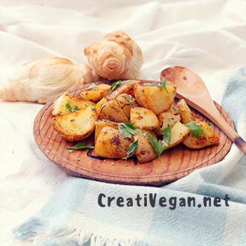 Patatas especiadas - Virginia Garcia-CreatiVegan.net