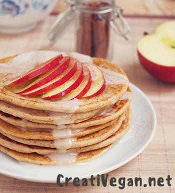 Tortitas de manzana y avena
