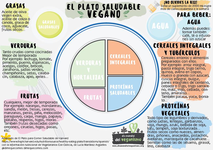 Plato saludable de Harvard, versión vegana