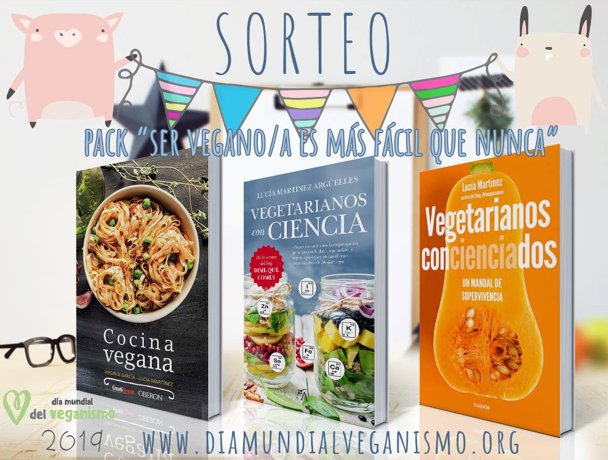 Sorteo: pack de libros Ser vegano es más fácil que nunca